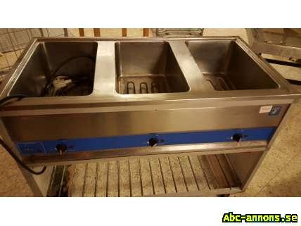 Restuarang Cafemaskine Butik - Gävleborg, Gävle - Stekbord digitalt, Vattenbad 3st. Kylbänk t. Pizzabänk. Fritöser.Saladsbuffe 3st. Inbrottsskydd till affär/restaurang: aluminiumgaller/jalusi elektriskt,5m. Menuskylt. Fläktkåpa,1m Gasgrill,shish etc.Kebabmaskiner,gas och el 2st - Gävleborg, Gävle