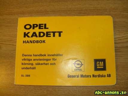 Instruktionsbok Opel Kadett 1975 - Västra Götaland, Borås - Original instruktionsbok till Opel kadett 1975,den som medföljer bilen. - Västra Götaland, Borås