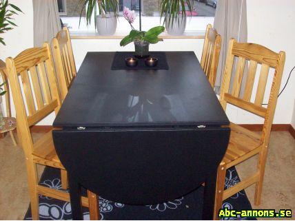 Svart köksbord + 4 stolar säljes! - Möbler & Heminredning - Abc ...