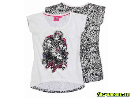 Monster High vit mönstrad top