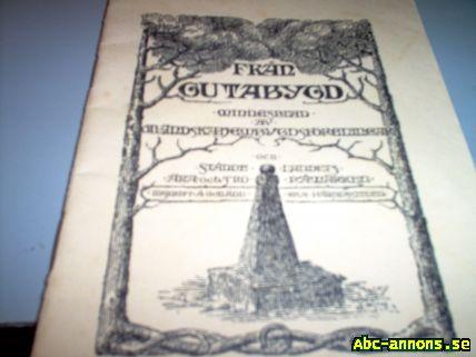 Minnesblad från Gutabygd 1927 - Västmanland, Västerås - MINNESBLAD GUTABYGD Torsburgs Hembygdsförening 1927 Hembygdsjournalen 1985 - Västmanland, Västerås