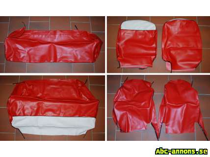 Seat red cover set Fiat 600 – 600D