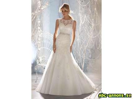 3a118c5c35f7 Skräddarsydd Brudklänning Bröllopsklänning Spets Släp - Kläder ...